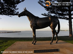 Statue at Port Lincoln - Australian Landmarks - M